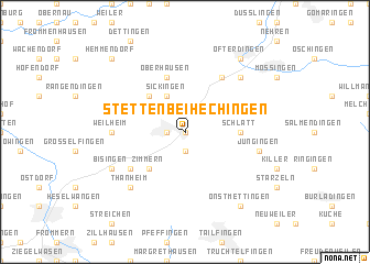 map of Stetten bei Hechingen
