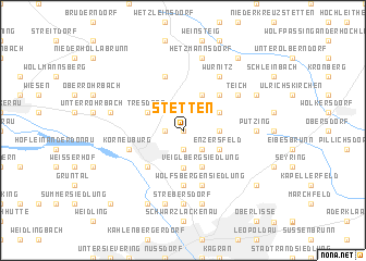 map of Stetten