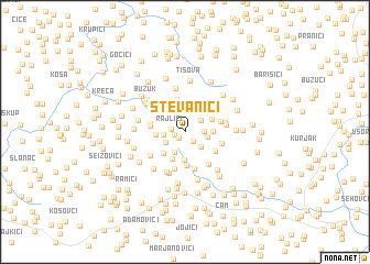 map of Stevanići