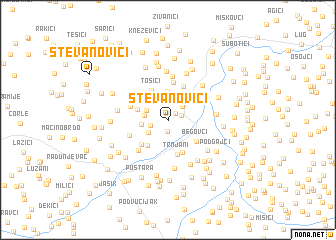map of Stevanovići