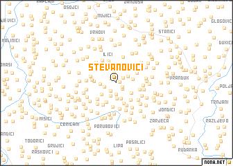 map of Stevanovići