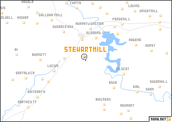 map of Stewart Mill