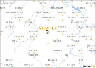 map of Stężnica