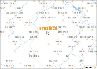 map of Stężnica