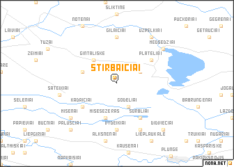 map of Stirbaičiai