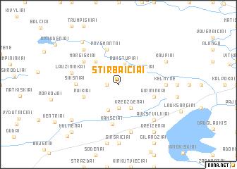 map of Stirbaičiai