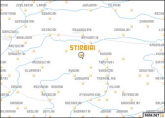 map of Stirbiai