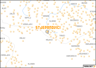 map of Stjepanovići