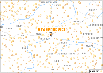 map of Stjepanovići
