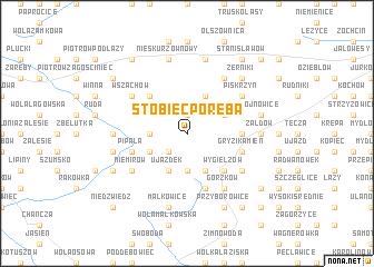 map of Stobiec Poręba
