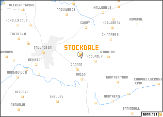 map of Stockdale