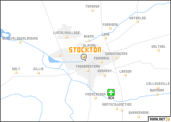 Stockton (United States - USA) map - nona.net