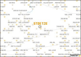 map of Stoetze