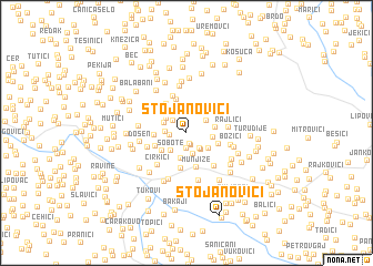 map of Stojanovići