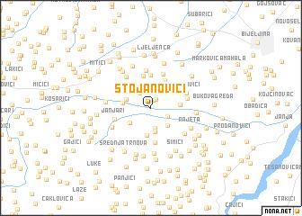 map of Stojanovići