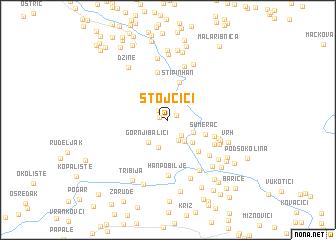 map of Stojčići
