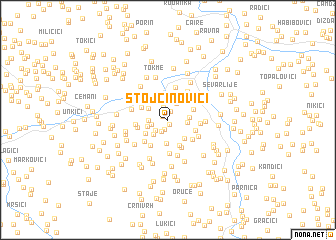 map of Stojčinovići