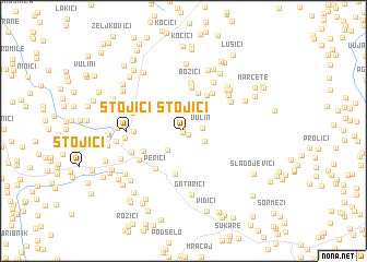 map of Stojići