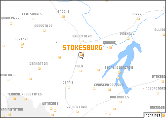 map of Stokesburg