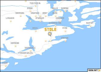 map of Støle