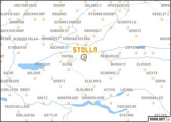 map of Stölln