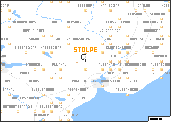 map of Stolpe