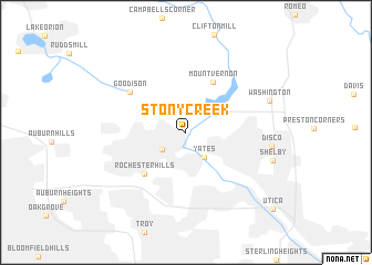 map of Stony Creek