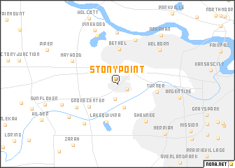 map of Stony Point