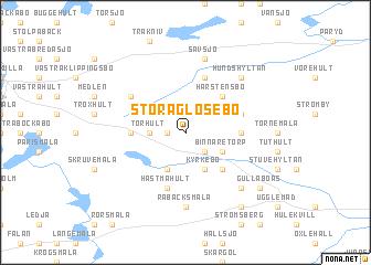 map of Stora Glosebo