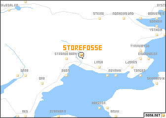 map of Store Fosse