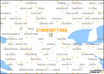 map of Store Røttinge