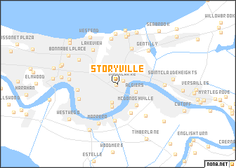 Storyville New Orleans Map Swimnovacom - New orleans on a us map