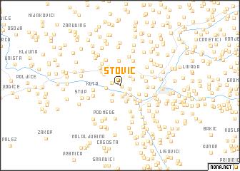 map of Štović