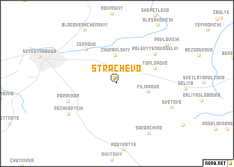 map of Strachëvo