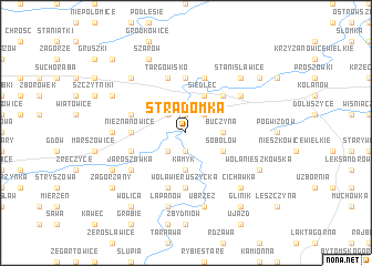 map of Stradomka