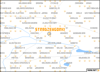 map of Stradzew Górki