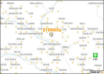 map of Strahinj