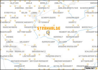 map of Strahwalde