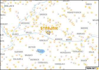 map of Strajnik