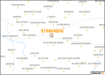 map of Strakhovo