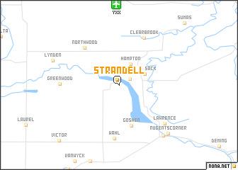 map of Strandell