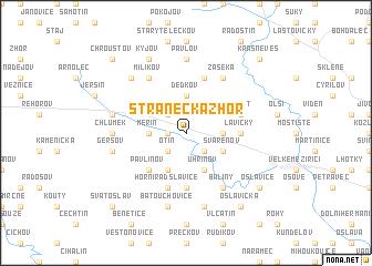 map of Stránecká Zhoř