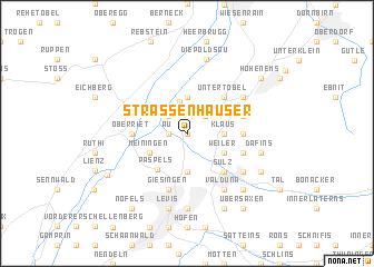 map of Strassenhäuser