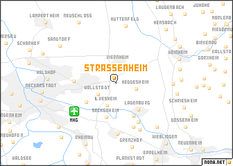map of Straßenheim