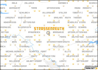map of Straßenreuth