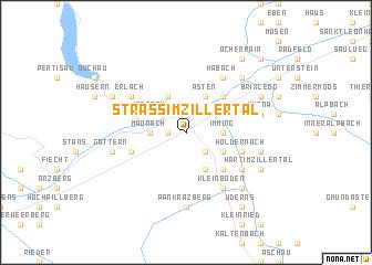 map of Strass im Zillertal