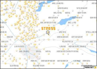 map of Strass