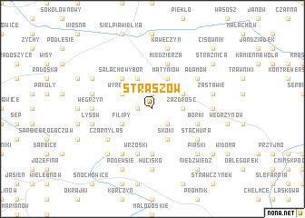 map of Straszów