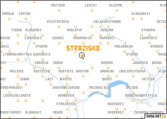 map of Strážisko