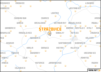 map of Strážovice